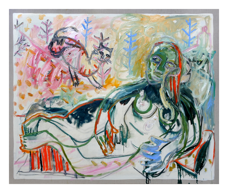 Childish/Adams. Katsap Venus (after Larionov), 2014. il on linen. 122 x 152.5 cm