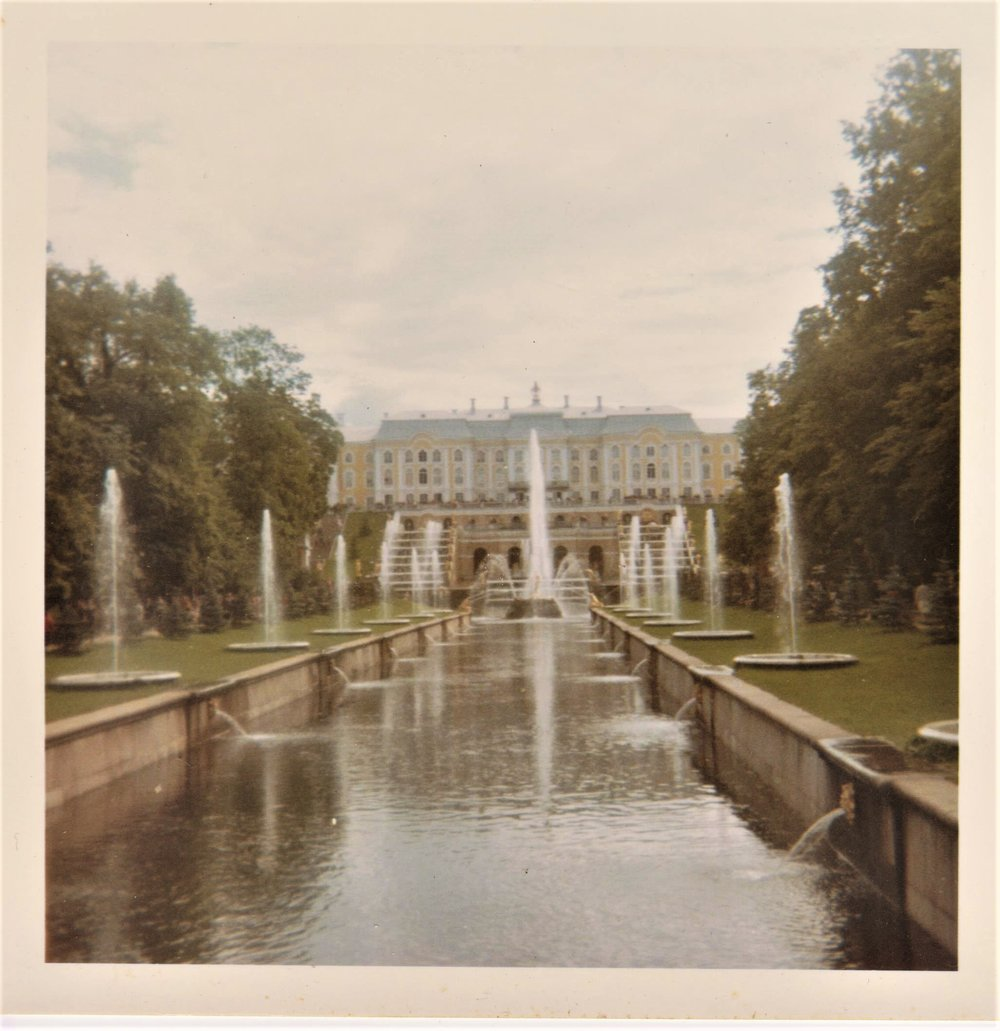 Peterhof (then known as Petrodvorets)
