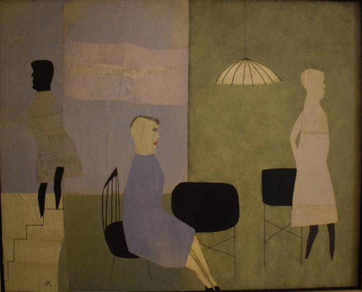 1. Three Blue Figures, 2014, oil on wood, 49cm x 61cm - £2,500