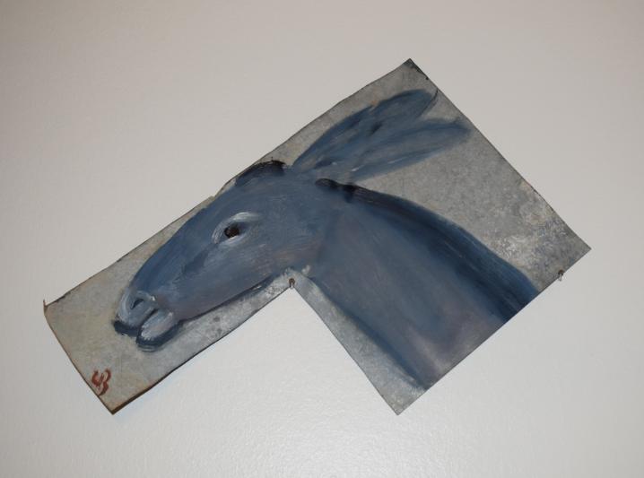 36. Little Donkey, 2018, oil on metal - £1,800