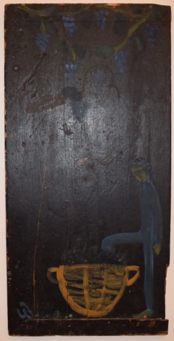 39. Pressing Grapes, 2005, oil on wood - £4,000
