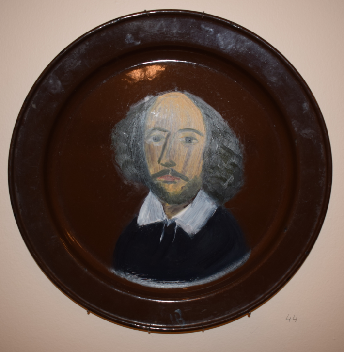 44. Shakespeare, 2018,  oil on metal - £4,000