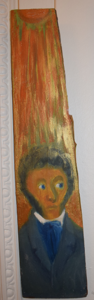 45. The Sun of Russian Poetry, 1996, oil on wood - £4,000