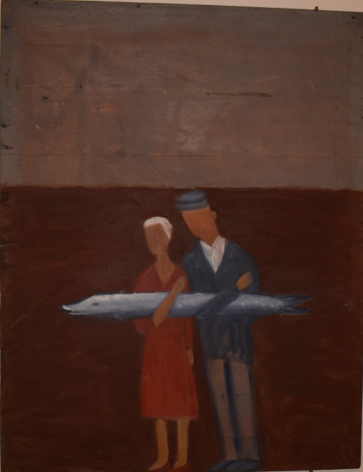 52. We are going to have a baby boy, 2000, oil on wood - £3,200