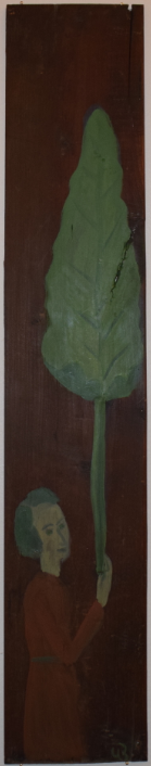 54. Self-portrait with Burdock, 2018, oil on metal - £2,200