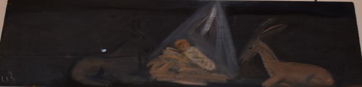 55. Nativity, 2010, oil on wood - £3,000