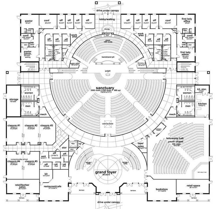 10000 sq ft church plans. EAGLES CH INT MIN FIRST FLR PLAN 052909 jpg Churches Fellowship Halls Daycares Gyms Building Design  Boye