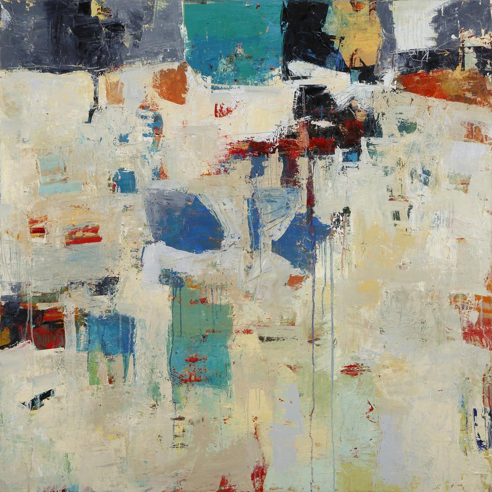 Sisyphean Blues  48 x 48  Oil on canvas  Sold