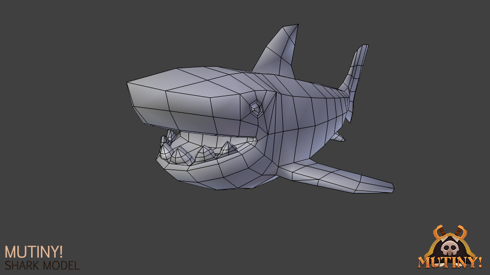 Low poly model of a shark from the waters of Mutiny!