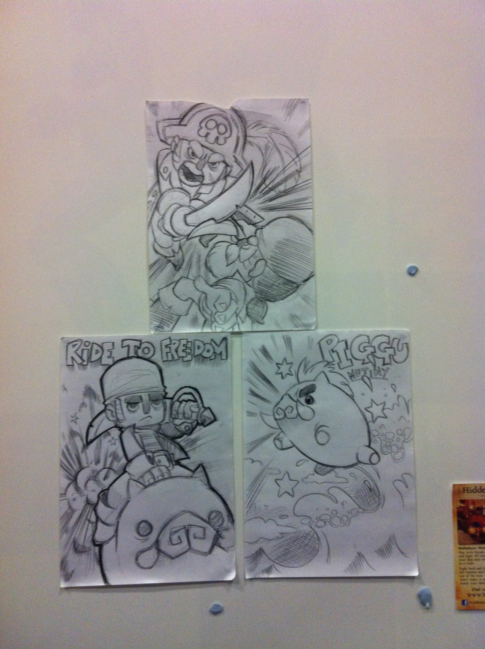 Artwork contributed by The Swift featuring pirates, mayhem and piggu.