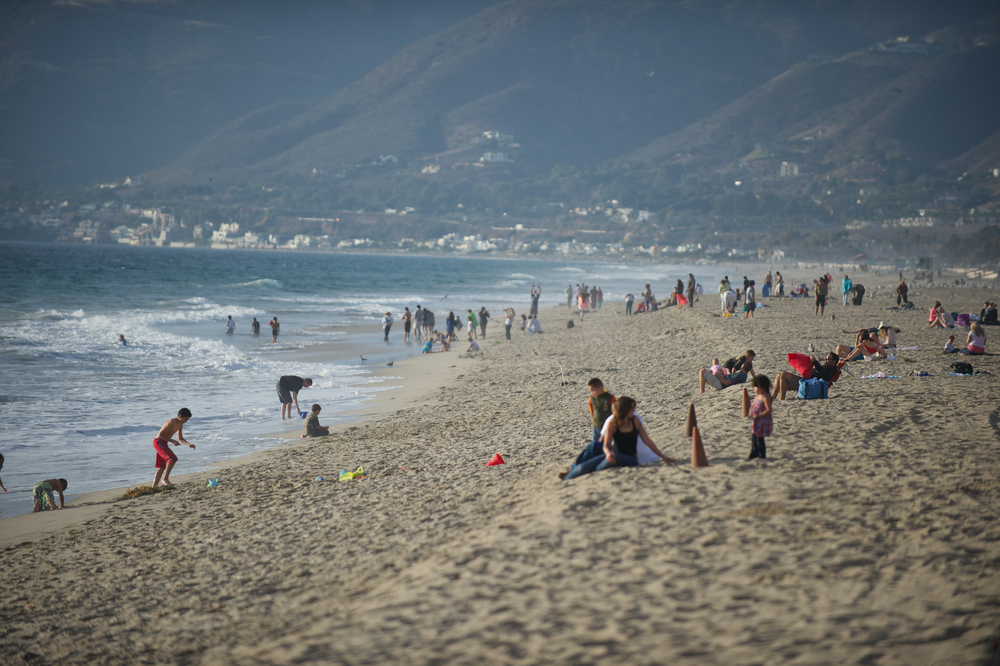 Zuma Beach, photo by Gary Leonard, courtesy of Los Angeles Tourism & Convention Board