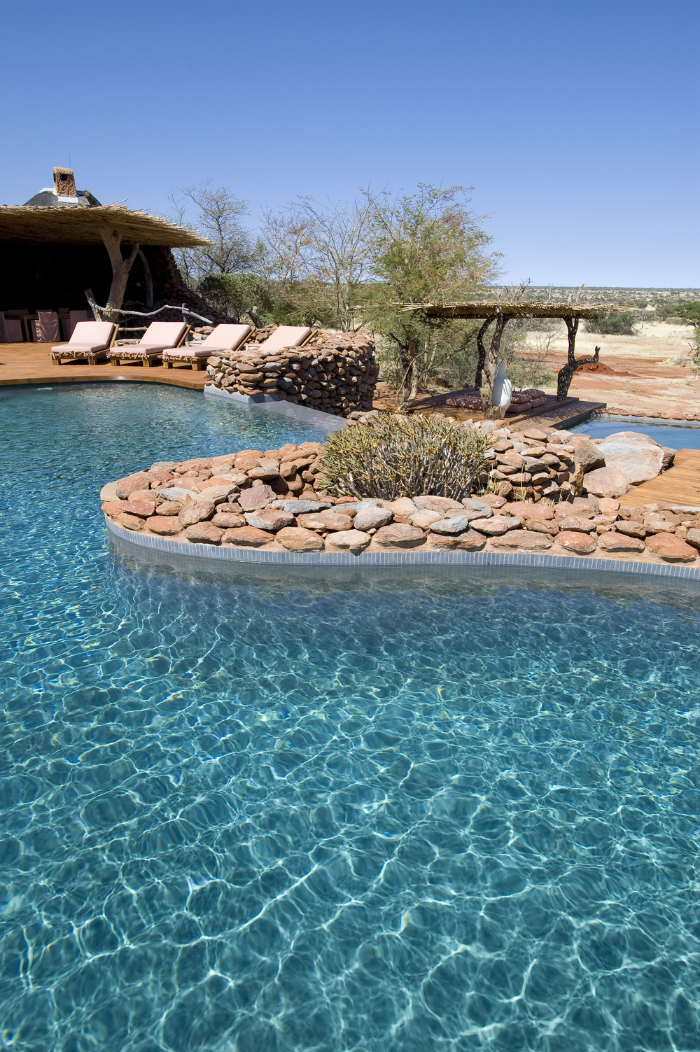 The pool at the Motse, Tswalu's main lodge