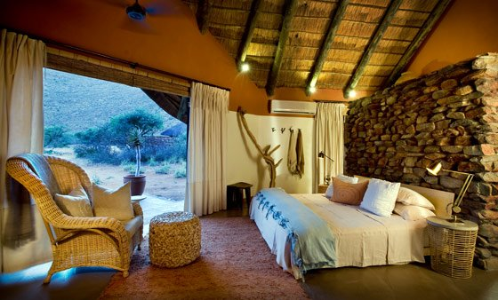 A room at the 5-bedroom Tarkuni Lodge at Tswalu