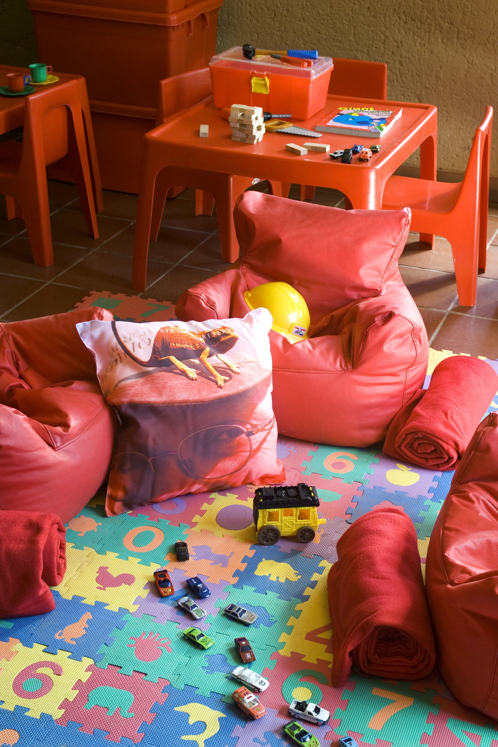 A children's playroom at Mountain Lodge