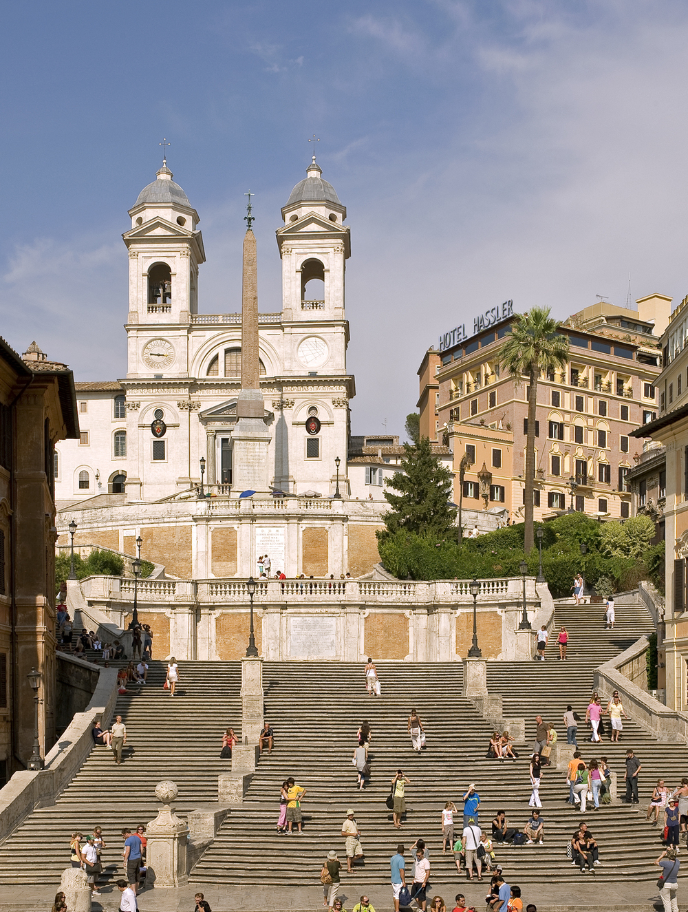 A view of the Spanish Steps and the Hassler
