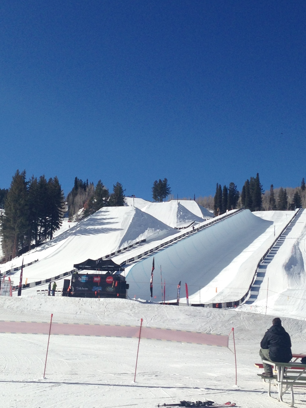 Massive halfpipe and jumps ready for the X Games