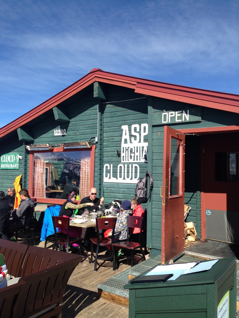 Aspen Highland's Cloud Nine restaurant, for champagne lunches at 11,000 feet