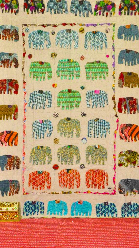 JaipurHandloom sari quilt (India)