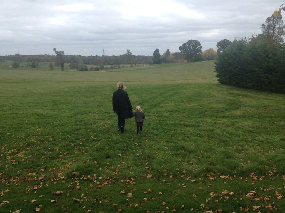 Grace and Emie exploring the grounds at Four Seasons Hotel Hampshire.  Image courtesy Grace Timothy