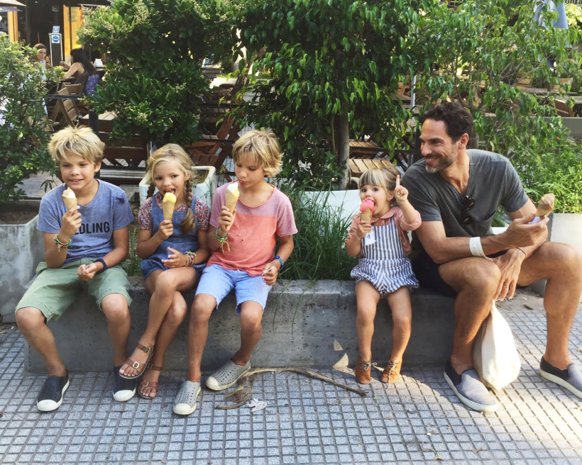 Easton, Ivy, Quin, Marlow and Michael Adamo in Buenos Aires. Photos courtesy Courtney Adamo.