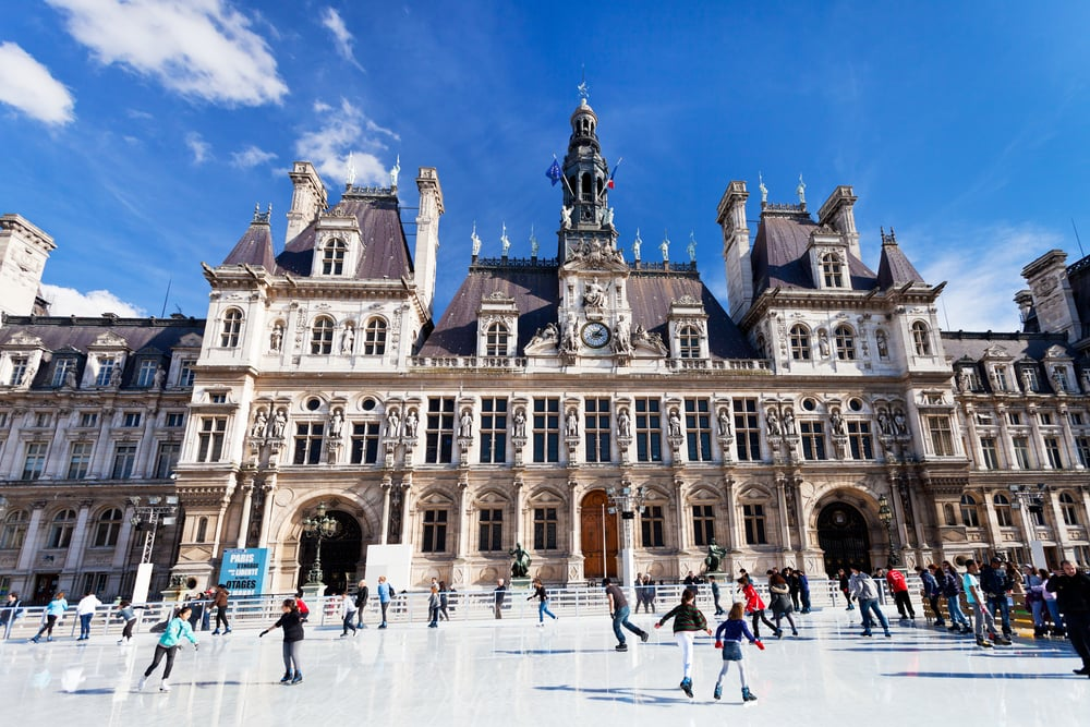 Ice skating at Hotel de Ville