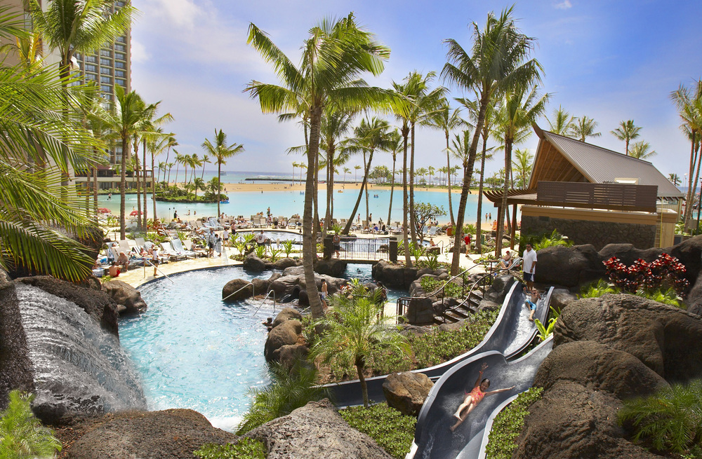 USA-Hawaii-Oahu-Hilton Hawaiian Village-Paradise Pool.JPG