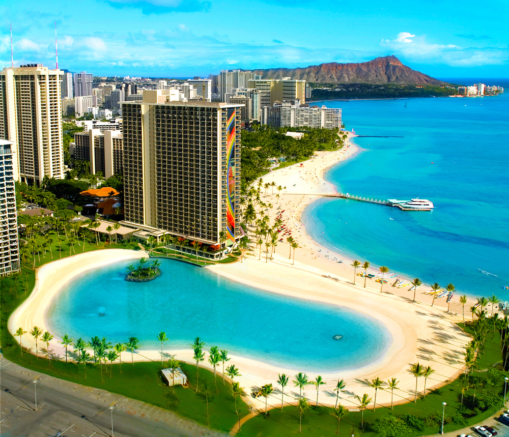 USA-Hawaii-Oahu-Hilton Hawaiian Village-Pool and beach view.jpg