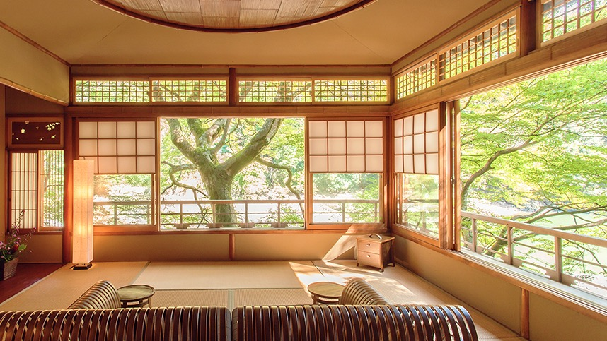 A guest room at Hoshinoya