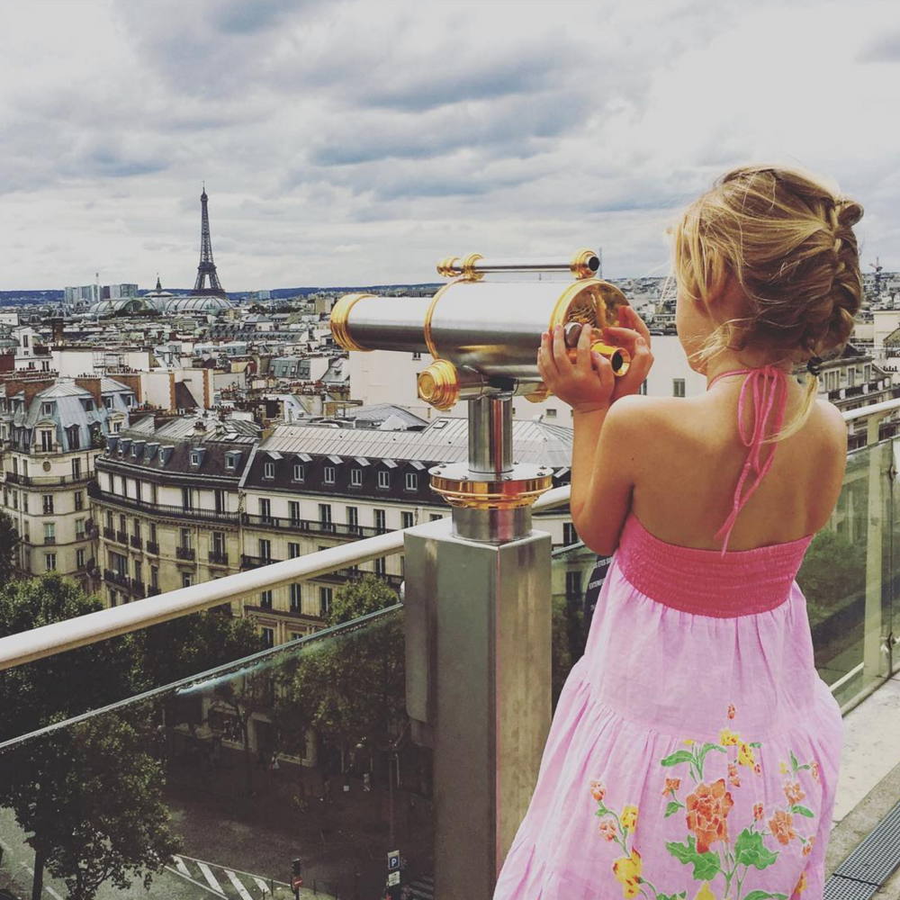 Mother and daughter Evie & Emmie of  mumpacktravel  just celebrated 6 months of traveling together, and we love this photo of Emmie in Paris! Share your travels with us using the tag #getpassported!