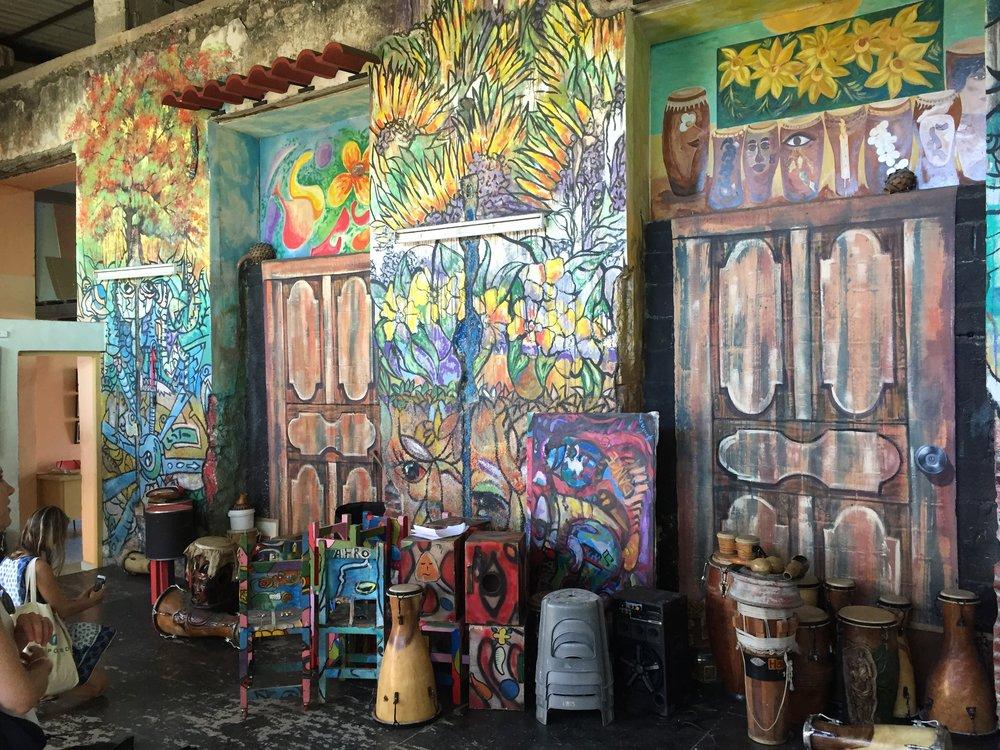 Murals at Habana Compass studios