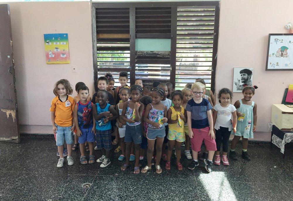 Meeting local children