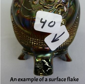 An example of a shallow flake.
