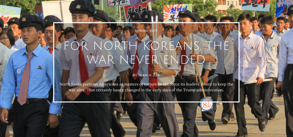 For North Korea the War Never Ended -