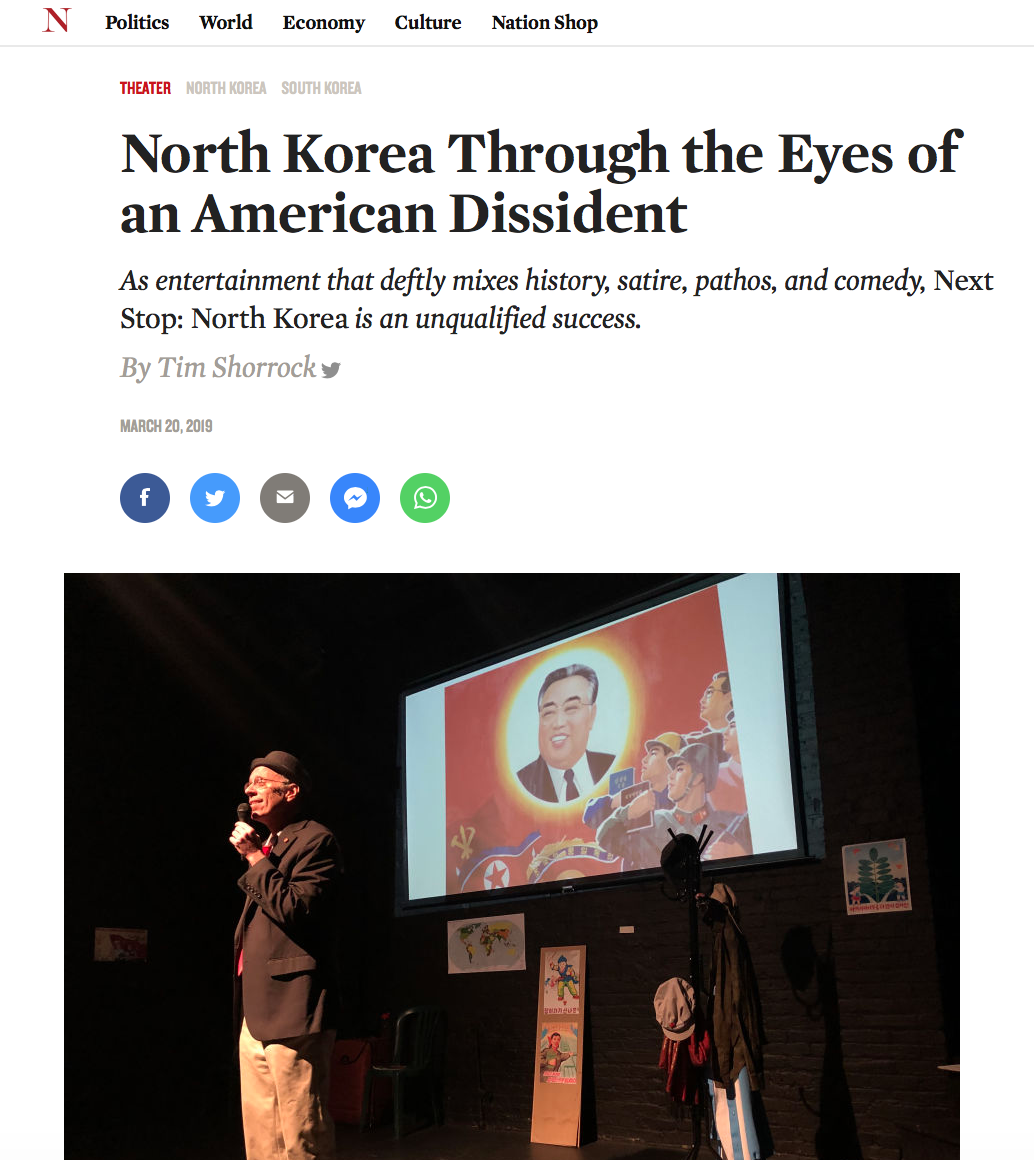 The Nation North Korea Through The Eyes Of An American Dissident