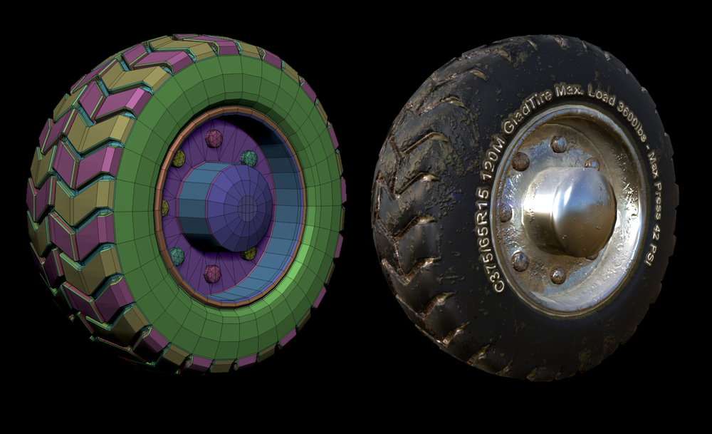 A double test. A first stab using Zbrush's new low poly tool, Zmodeler, and another Substance texturing test using both Substance Painter and Designer.