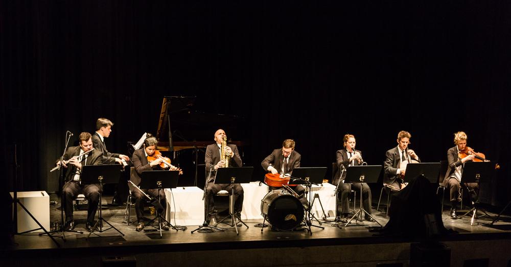 Talea Ensemble performing Steve Takasugi's  Sideshow  in Bludenz, Austria