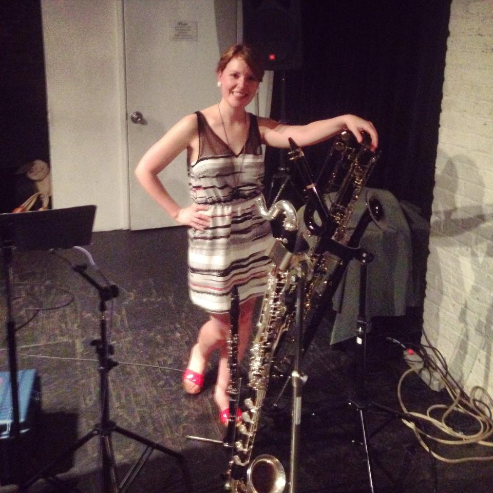 Phalanx of clarinets after a very hot (literally) solo show at The Stone in NYC
