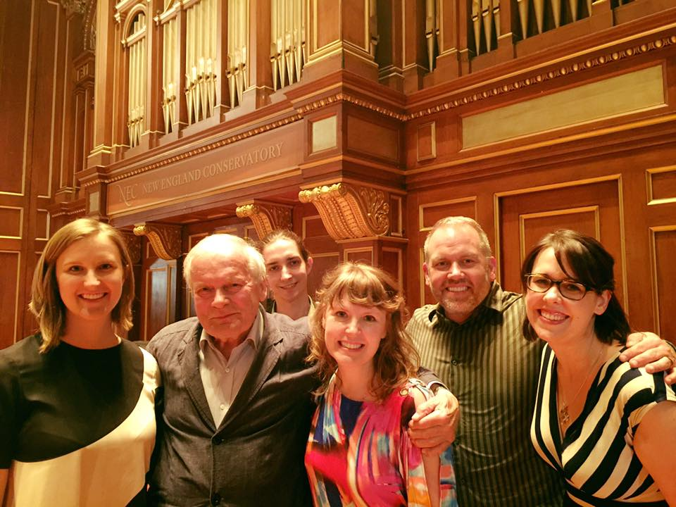 Vinko Globokar with SICPP faculty and members of the Callithumpian Consort