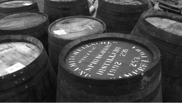 Some of our barrels, including original 1992 Springbank