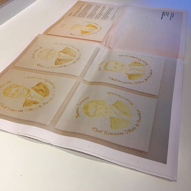 The Makers of Neonicotinoids - 2018 Pollen on Board 180 x 240mm (each)  As featured in @f_strategyclub mag!  #freddieyauner #pollenpigment #pollen #pollenpaint #Neonics #neonicotinoids #syngenta #bayercropscience #mitsui #sumitomo #Nipponsoda #weareanthropocene #industrialagriculture #delicate #unpredictable #colour #corporateportrait #dyslexic