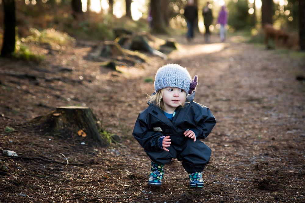 My daughter Eve in Haldon woods copying me.