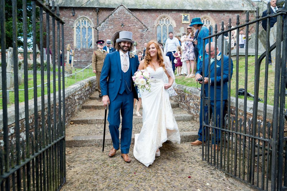 Sanford Church Wedding Bride and Groom