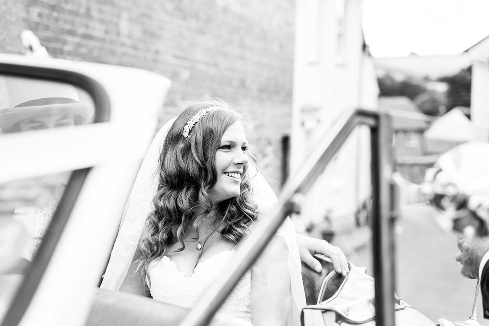 Sanford Church Wedding Bride Leaving