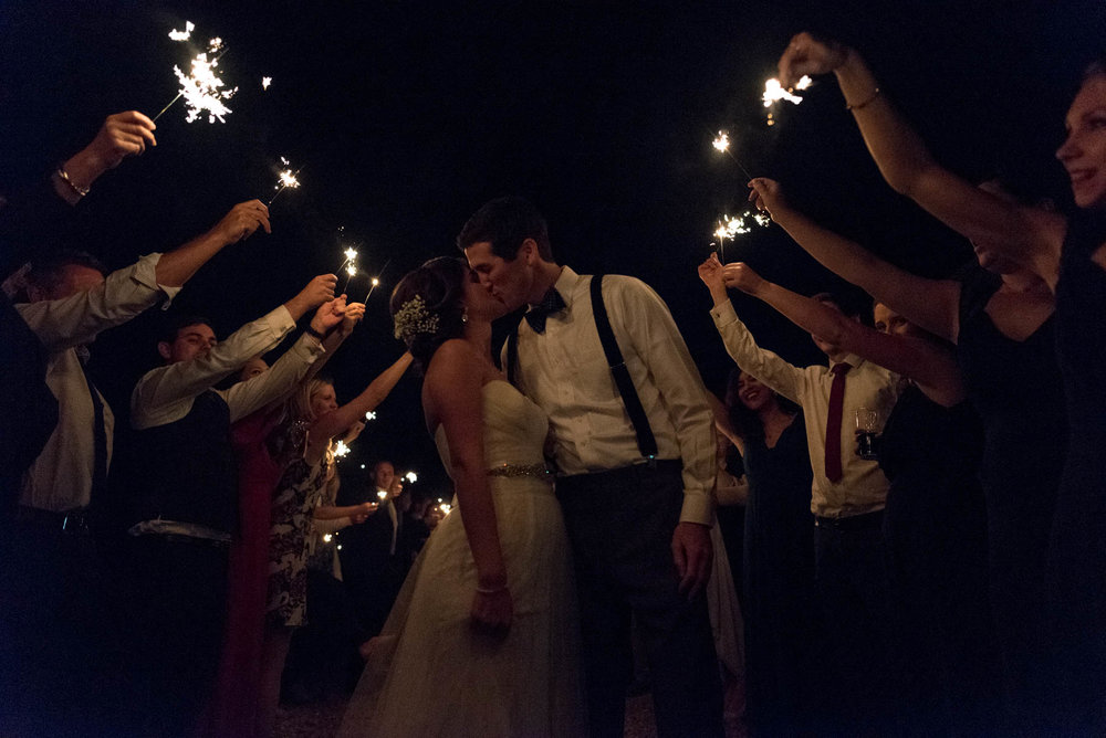 Wedding day sparklers