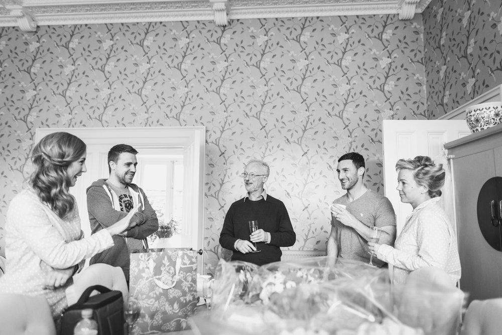 Wedding day prep at Radford Villa near Bath