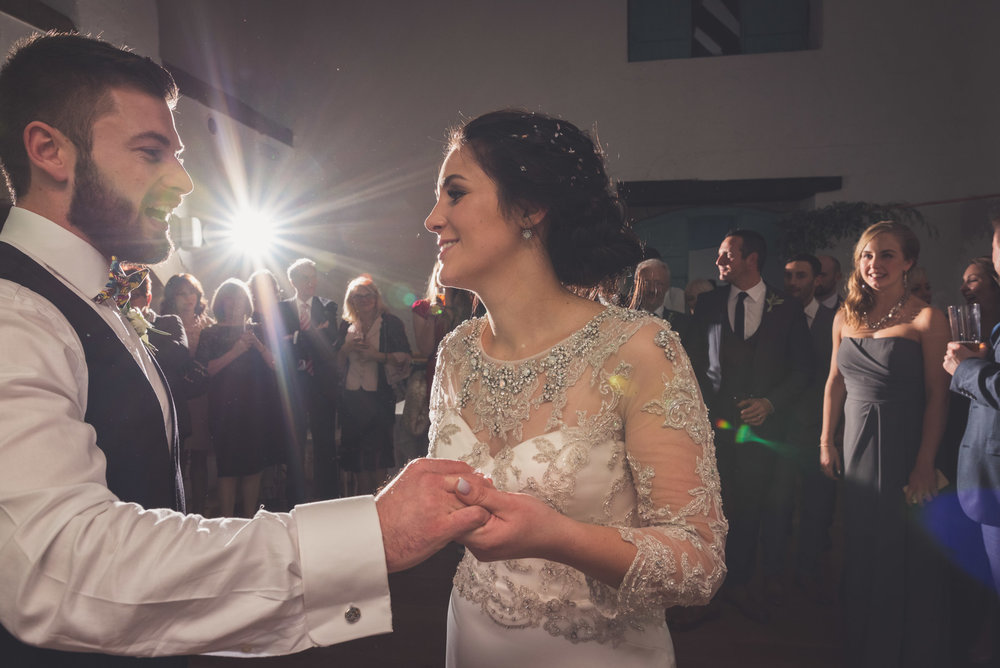 Wedding first dance at Priston Mill near Bath