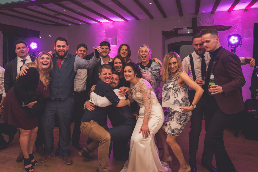 Wedding dancing at Priston Mill near Bath