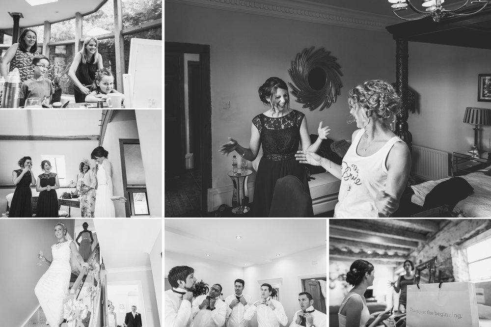 Wedding Prep Black and White