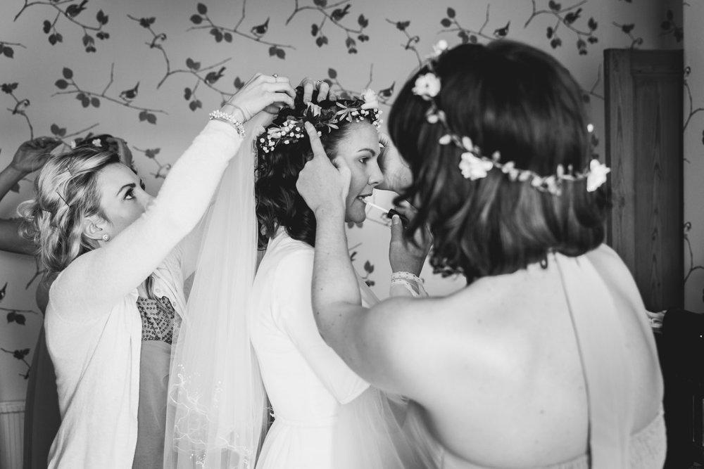 Bride's final touches