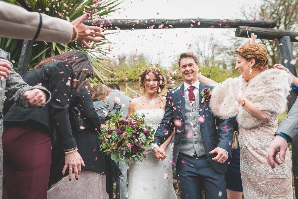 Confetti wedding day colour